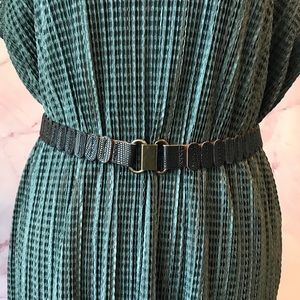 Anthropologie Leather Oval High Waist Belt